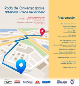 Senge-BA promove roda de conversa sobre Mobilidade Urbana em Salvador